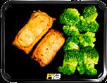 Hähnchen Hackfleisch Rolle - Broccoli (mit Gewürz)