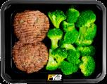 Rindfleisch Burger - Broccoliröschen (mit Gewürz)
