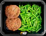Rindfleisch Burger - Brechbohnen (mit Gewürz)