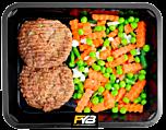 Rindfleisch Burger - Sommergemüse (mit Gewürz)