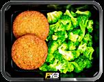 Vegetarischer Burger - Broccoli (mit Gewürz)