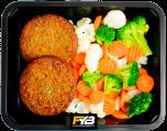 Vegetarischer Burger - Kaisergemüse (mit Gewürz)