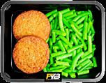 Vegetarischer Burger - Brechbohnen (mit Gewürz)