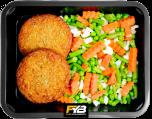 Vegetarischer Burger - Sommergemüse (mit Gewürz)
