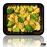 Brauner Reis - Hähnchen - Broccoli (Bombay Currysauce) - MASSE