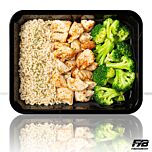 Brauner Reis - Hähnchen - Broccoliröschen (mit Gewürz) [MASSE]