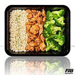 Brauner Reis - Hähnchen Cajun - Broccoliröschen - MASSE