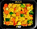 Brauner Reis - Hähnchen - Kaisergemüse (Bombay Currysauce) - MASSE