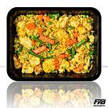 Brauner Reis - Hähnchen - Sommergemüse (Bombay Currysauce) - MASSE